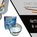 Nettoyer la litière du chat avec du vinaigre blanc